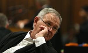 Barry Roux, Oscar Pistorius's legal representative, in court