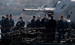 Ukrainian soldiers in Sevastopol, 5 March 2014