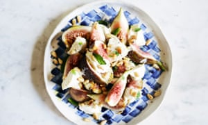 Season's eatings: fresh figs with labneh, pine nuts and mint