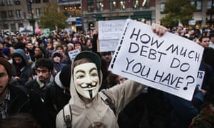 A large gathering of protesters affiliated with the Occupy Wall Street Movement in 2011.