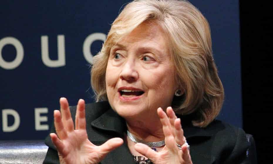 Hillary Clinton during her University of California speech.