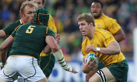 David Pocock in action against South Africa at the 2011 World Cup.