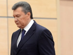 Viktor Yanukovych tops the list of 18 people targeted by an EU assets freeze