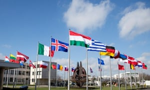 Nato headquarters in Brussels. An air strike has killed five Afghan soldiers in the country's Logar province.