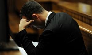 Oscar Pistorius in court in Pretoria