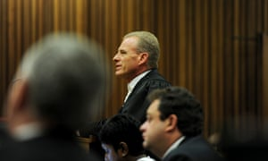 State prosecutor Gerrie Nel speaks in court during day four of Oscar Pistorius's murder trial.