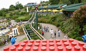 A view of Legoland from the Sky Rider