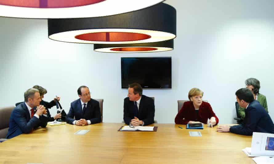 EU leaders discuss the Ukraine crisis on the sidelines of an EU summit in Brussels.
