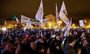A Five Star Movement rally in Rome