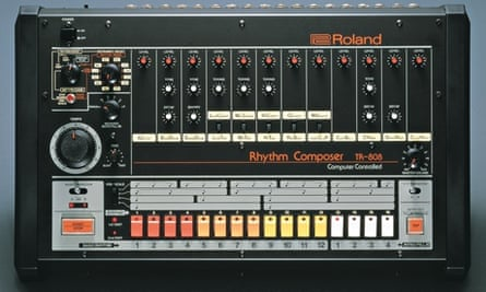 The iconic TR-808 Roland drum machine.