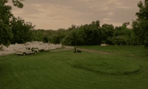 true detective lawn mower circle