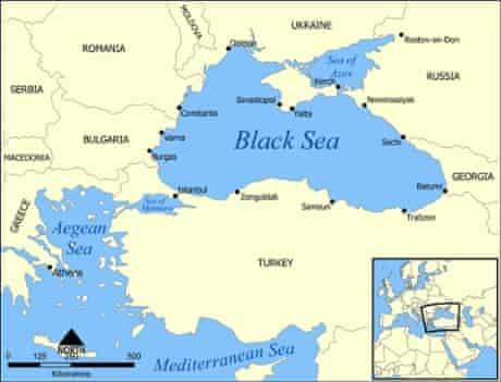 Black sea map