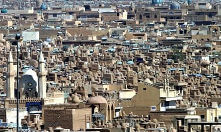 The vast cemetery in Najaf, where 5 million bodies lie buried