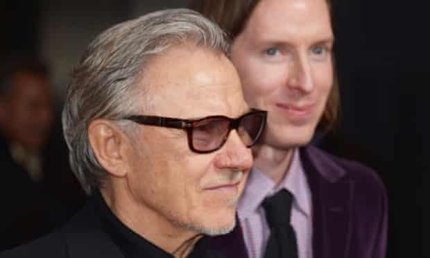 Harvey Keitel with Wes Anderson at The Grand Budapest Hotel New York Premiere