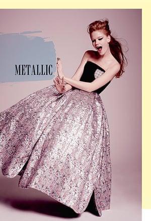 Key looks: metallic