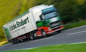 Eddie Stobart truck with motion blur