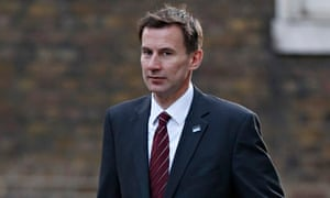 Jeremy Hunt arrives to attend a Cabinet meeting