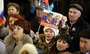 Pro-Russian sympathizers in Crimea.