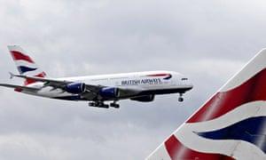 British Airways flight at Heathrow