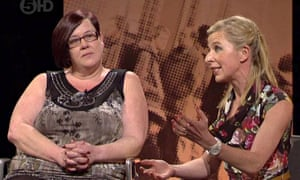Deirdre Kelly with Katie Hopkins on The Big Benefits Row