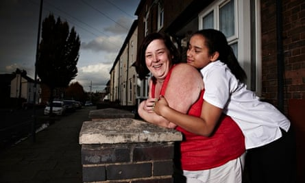 Deirdre Kelly and her daughter, Caitlin, on Benefits Street
