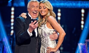 Sir Bruce Forsyth and Tess Daly during in live final of Strictly Come Dancing