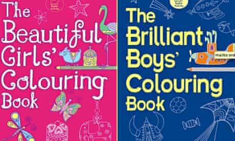 Colouring books for girls and boys