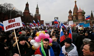 Crimea rally in Moscow