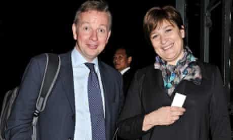 Education secretary Michael Gove and his wife, Sarah Vine