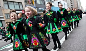 Young marchers at 2013's St Patrick's Day parade in New York.