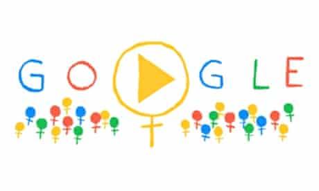 international women s day celebrated in google doodle google doodle the guardian google doodle