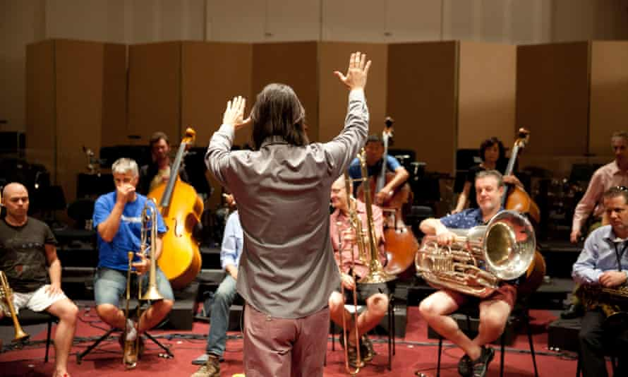 Volkov rehearses with Adelaide Symphony Orchestra ahead of their Tectonics Adelaide performance, photographed in the Grainger Studio.