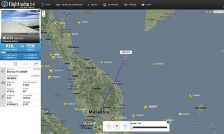Malaysia Airlines plane vanishes from radar screens | World news ...