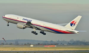 The Malaysia Airlines Boeing 777-200ER that has disappeared, taking off in France in December 2011