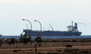The North Korean-flagged tanker docked at Es Sider.