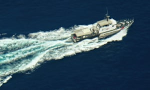 Malaysian airlines search: A Malaysian Maritime Enforcement boat patrols