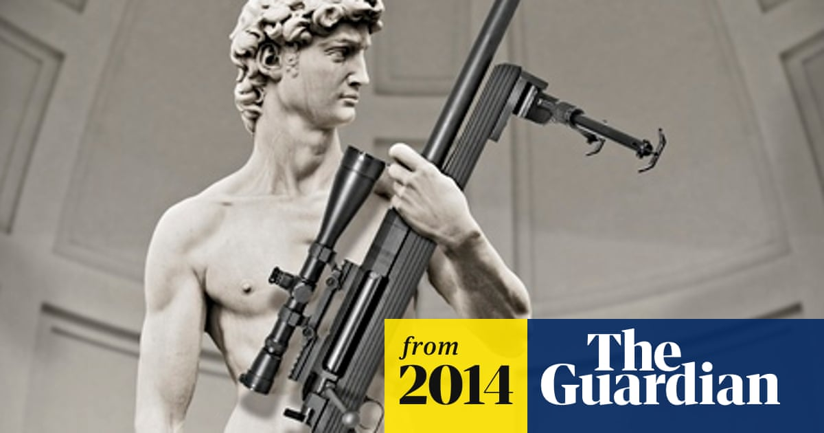 4cdf83d222 Michelangelo's David pictured holding rifle in American advert, to Italy's  fury