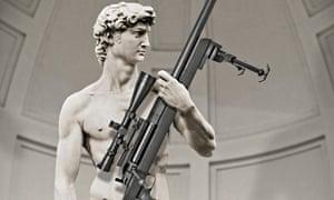 David with rifle