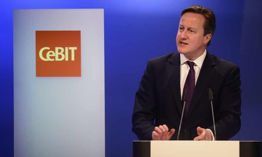David Cameron CeBit conference