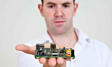 Eben Upton and Raspberry Pi computer.