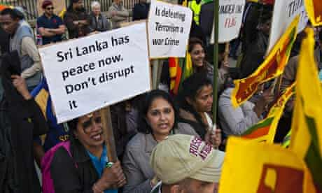 Sri Lankans demonstrate in London