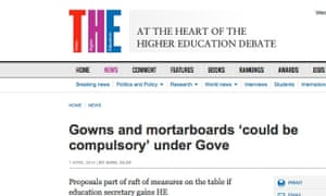 Gowns and mortarboards could be compulsory under Gove