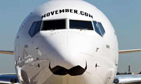 Movember on aeroplane