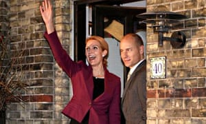 Stephen Kinnock and his wife, the Danish prime minister Helle Thorning-Schmidt