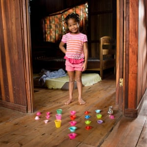 Naya Gutierrez, 3 -  Managua, Nicaragua  Naya doesn't have many toys, she just has few  small cook tools but she never gets bored to play with them. She uses mud and grass from the garden to pretend to cook some cakes for her older sister. She says that in the future she will manage a restaurant and she's sure that tourists will love it!