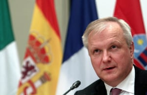 Olli Rehn, the European Commissioner in charge of the Monetary Affairs attends a press conference following a Eurogroup Meeting at Zappeion Hall in Athens, Greece, 01 April 2014.