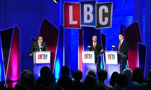The first of the two debates was hosted by LBC radio presenter Nick Ferrari.