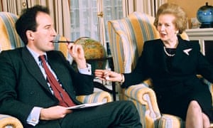 Charles Moore with Margaret Thatcher in 1995