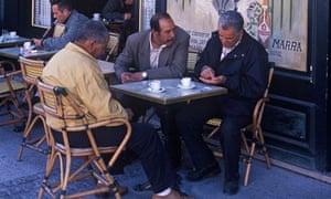 Men having coffee at cafe