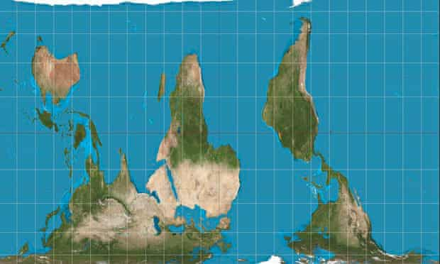 Gall-Peters equal projection upside down